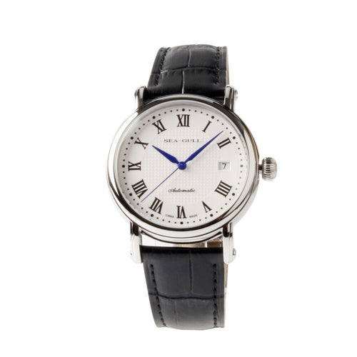 Seagull Roman Numerals Guilloche Blue Hands Automatic Watch 819.368 - seagull-watches