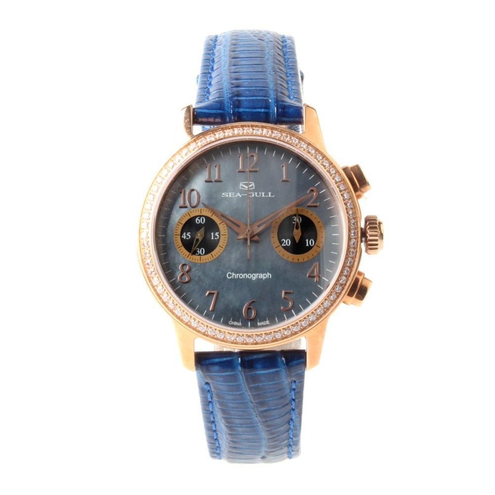 Seagull Rhinestones Chronograph Watch 719.754L - seagull-watches