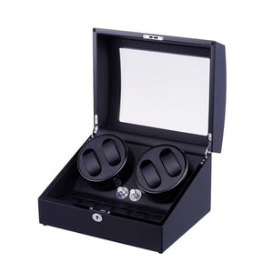 Automatic Watch Winder and Storage Box for 4 Self-Winding Watches