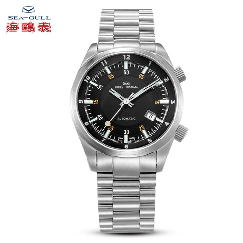 Seagull Dual Time Zone GMT Luminous Hands Automatic Watch 816.582 - seagull-watches