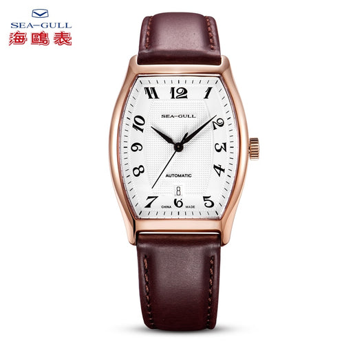 Seagull Gold Tone Tonneau Automatic Watch 549.402 - seagull-watches