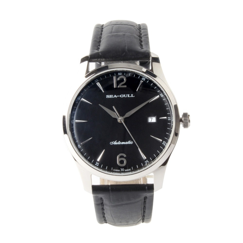 Seagull Dress Watch Black Dial ST2130 Movement Automatic D819.438 - seagull-watches