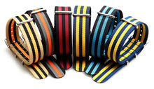 Load image into Gallery viewer, Colorful Nato Zulu Nylon Sport Strap 5 pack - seagull-watches