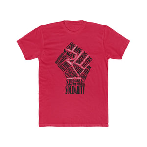 Fist Of Solidarity Men's Cotton Crew Tee