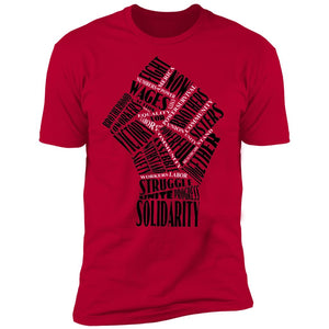 Fist Of Solidarity Short Sleeve T-Shirt by Newday Unlimited