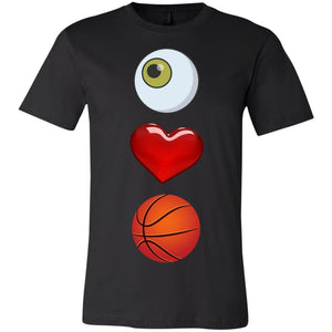 The Eye Love Basketball Short-Sleeve T-Shirt - Newday Unlimited