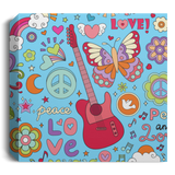 Peace & Love Deluxe Square Canvas 1.5in Frame