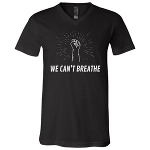 We Can't Breathe SS V-Neck T-Shirt