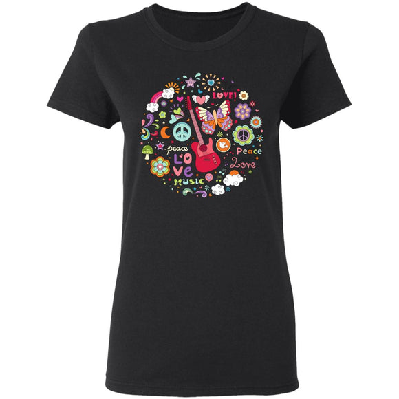 Peace & Love Ladies' T-Shirt