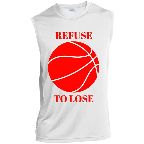 Refuse To Lose Sleeveless Performance T-Shirt. (white) - Newday Unlimited