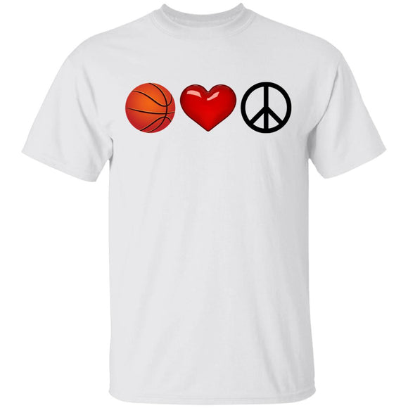 Peace, Love & Basketball T-Shirt