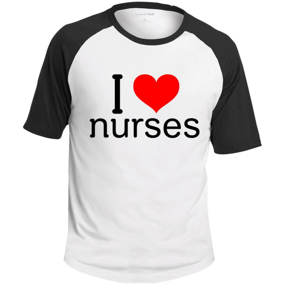 I Love Nurses Colorblock Raglan Jersey