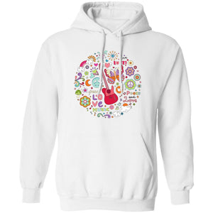 Peace & Love Unisex Pullover Hoodie 8 oz.