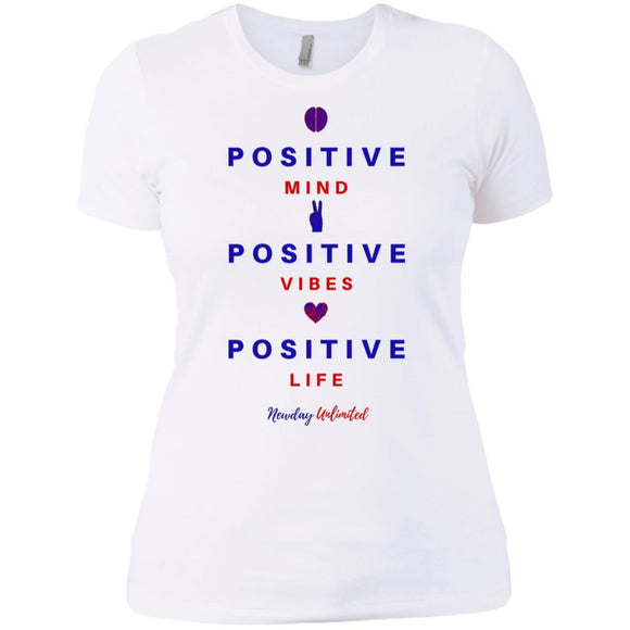 Next Level Ladies' Premium Mind, Vibes, Life T-Shirt - Newday Unlimited