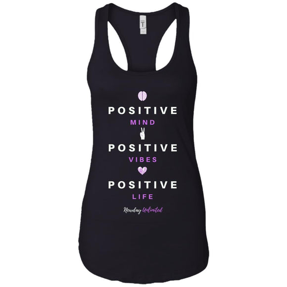 Next Level Ladies Premium Mind, Vibes, Life Racerback Tank - Newday Unlimited
