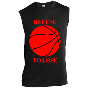 Refuse To Lose Sleeveless Performance T-Shirt. (black) - Newday Unlimited