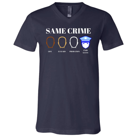 Same Crime SS V-Neck T-Shirt