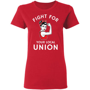 Vintage Fight For Your Local Unions Ladies' 5.3 oz. T-Shirt
