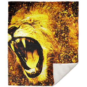 King of the Jungle Premium Sherpa Blanket - 50x60