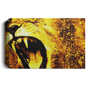 king of the Jungle Deluxe Landscape Canvas 1.5in Frame
