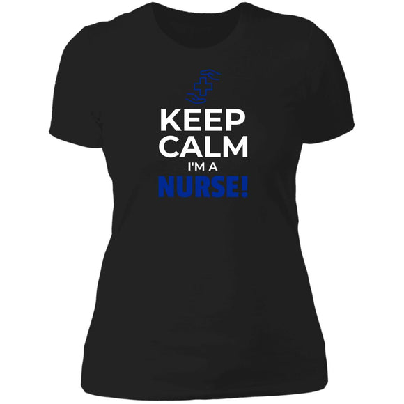 Keep Calm Im A Nurse Premium Womens T-Shirt