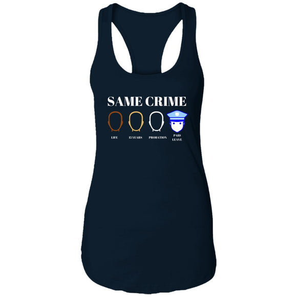 Same Crime Ladies Ideal Racerback Tank