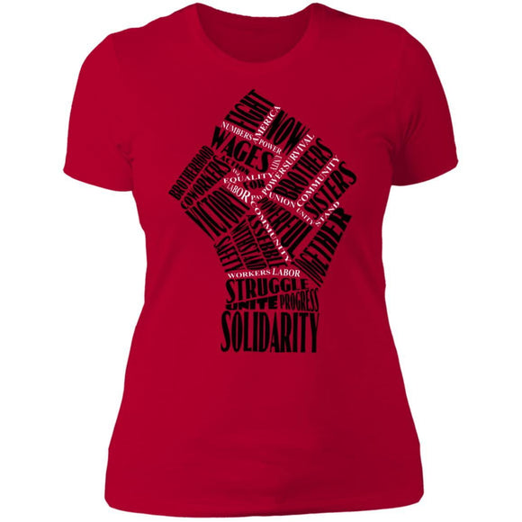 Fist Of Solidarity Ladies' T-Shirt - Newday Unlimited