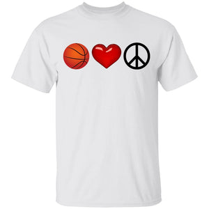 Peace, Love and Basketball Youth T-Shirt
