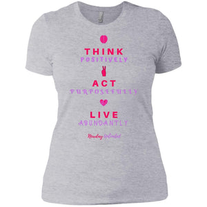 Next Level Ladies' Think, Act, Live Premium T-Shirt - Newday Unlimited