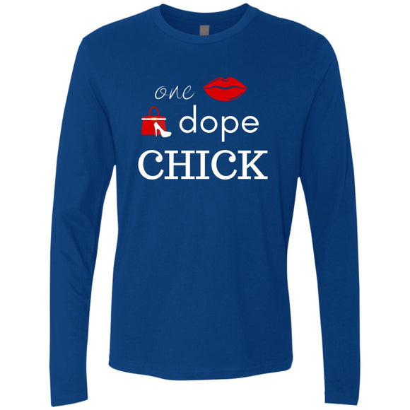 One Dope Chick Womens LS T-Shirts
