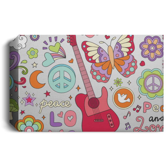 Peace & Love Deluxe Landscape Canvas 1.5in Frame