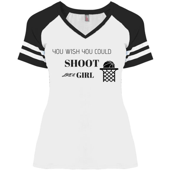 You Wish Ladies' Game V-Neck T-Shirt - Newday Unlimited