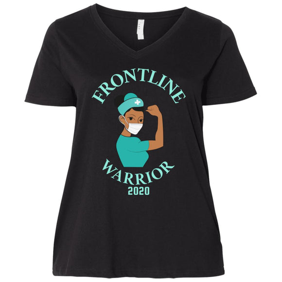 Frontline Warrior Curvy V-Neck T-Shirt