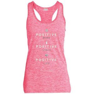 Positive Life Ladies' Moisture Wicking Electric Heather Racerback Tank - Newday Unlimited