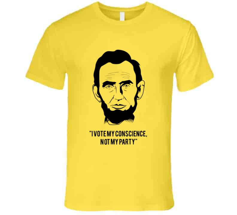 Abe's Conscience t-shirts