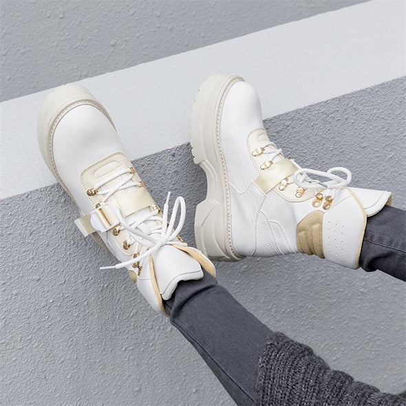 Chunky women's ankle hiking boots