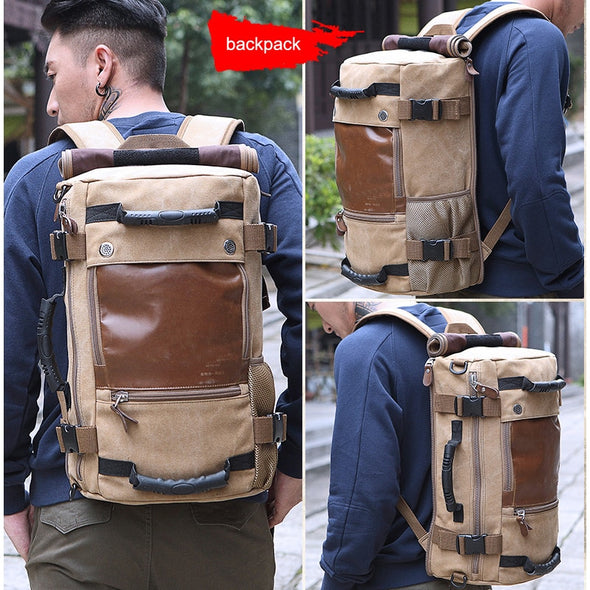 Brown Jungle Style Backpack