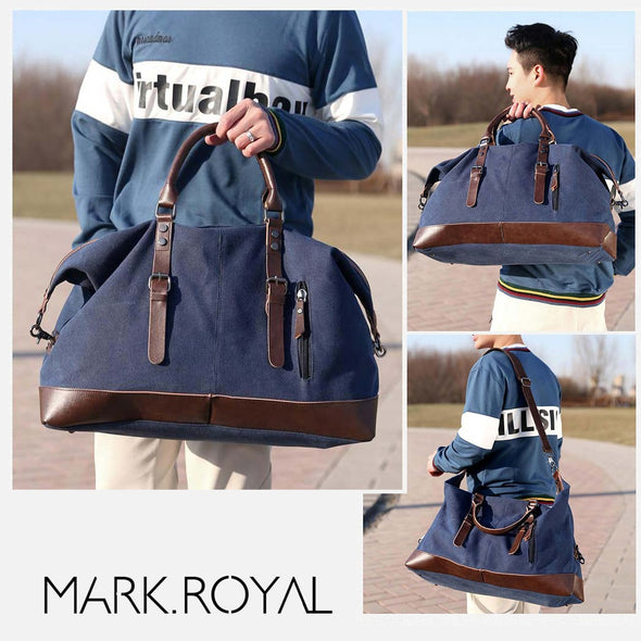 Canvas Leather Men Travel Bag