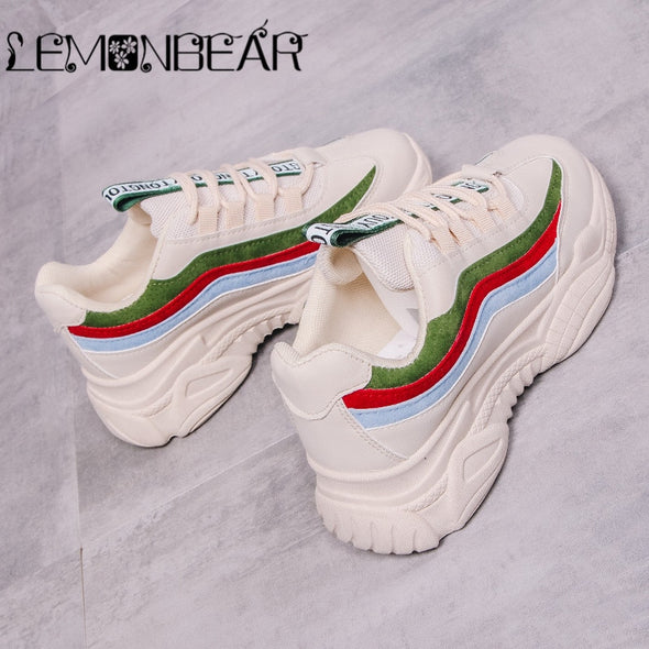 Rainbow  bright platform sneakers