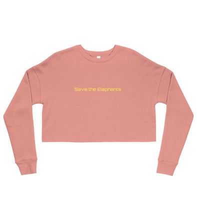 Save the Elephants Crop Sweatshirt