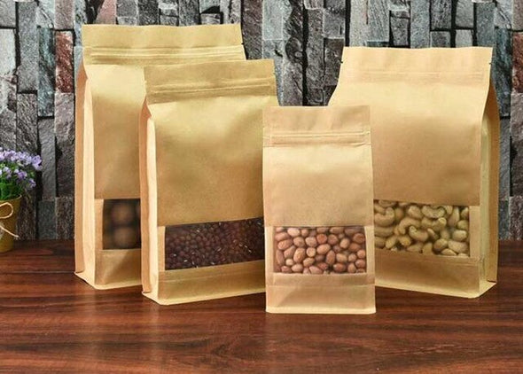 50pcs ziplock paper food bags