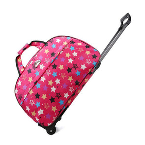 Pink star bright travel bag