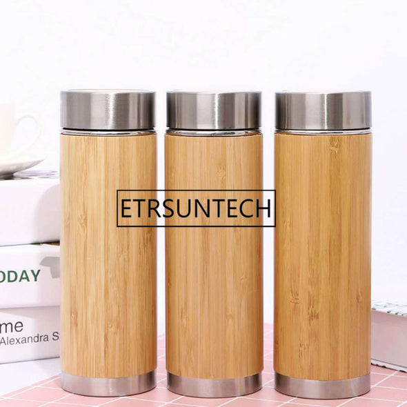 Bamboo Stainless Steel Water Bottle(10pcs set)  360ml 450ml