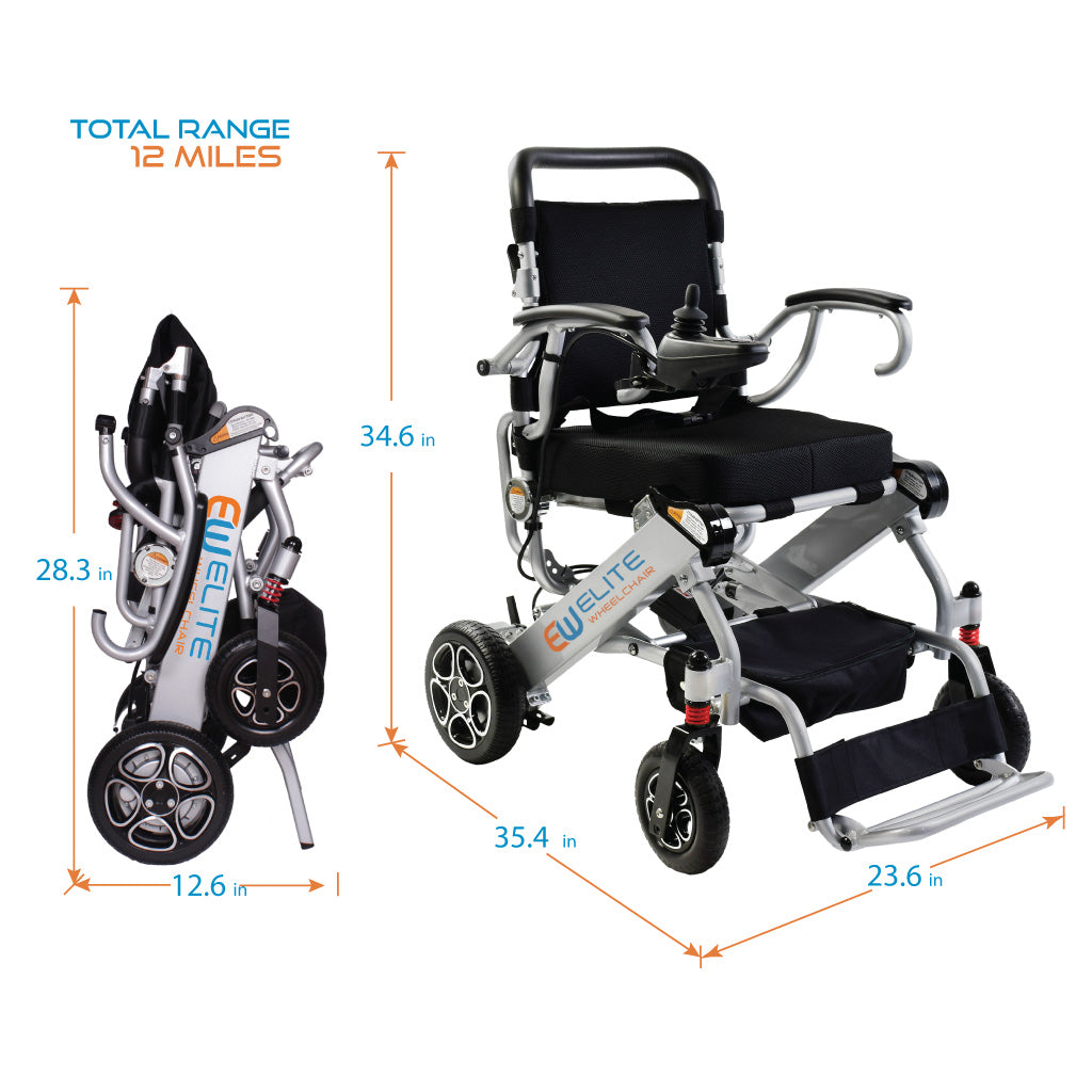 2019 Compact Folding Electric Powered Wheelchair, Model N5513A