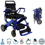 2021 Elite Wheelchair, Model EW13 Cobalt Blue. COMBO.