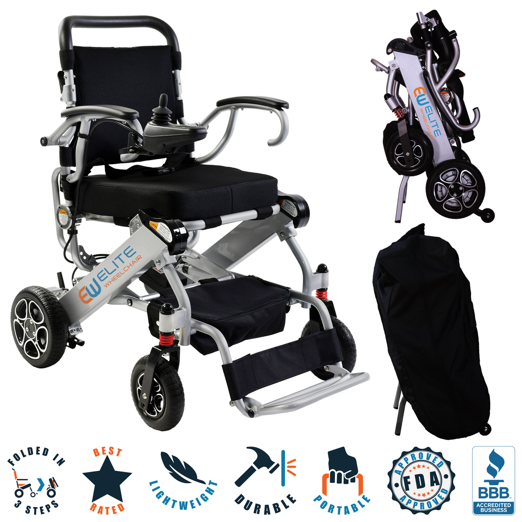 Elite Wheelchair, Model EW13 Silver. (REFURBISHED N5513A).