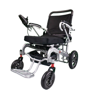 Electric Powered Wheelchair Heavy Duty Supports up to 330lb, Remote Control Folding-Unfolding, MODEL W5517 Silver REFURBISHED