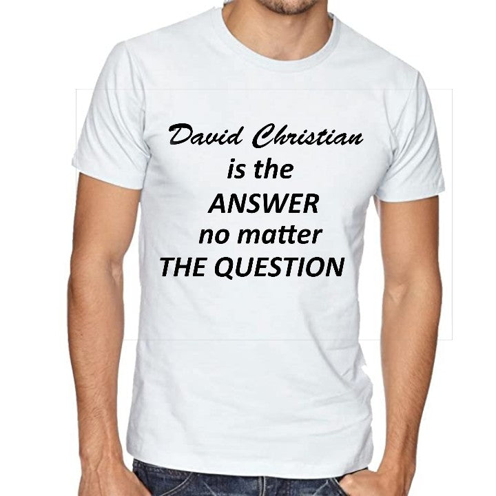 """D.C. is The Answer"" T-Shirt"