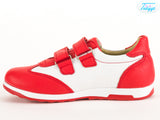 Leather Athletic Sports Shoes for Boys & Girls with Orthopedic Insole
