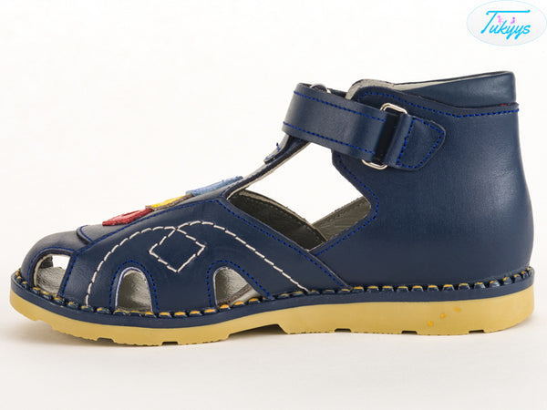 Leather Baby Shoes - Orthopedic Insole Boys/Girls Sandals
